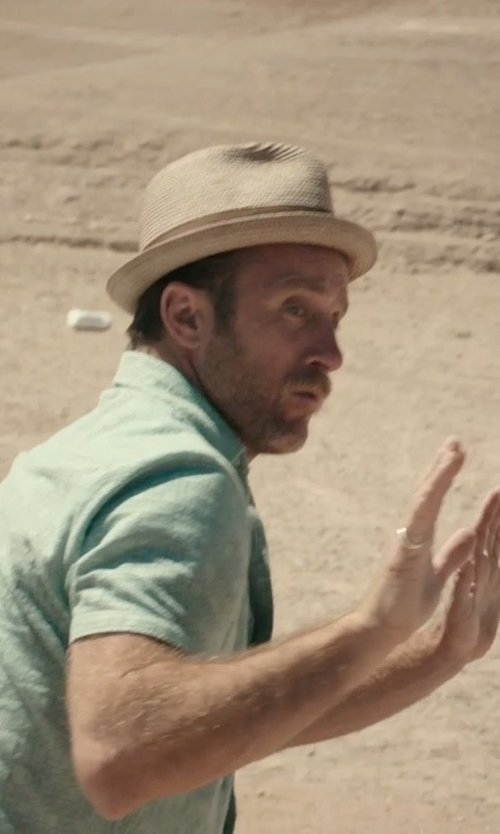 Scott Caan with Banana Republic Straw Fedora Hat in Rock The Kasbah