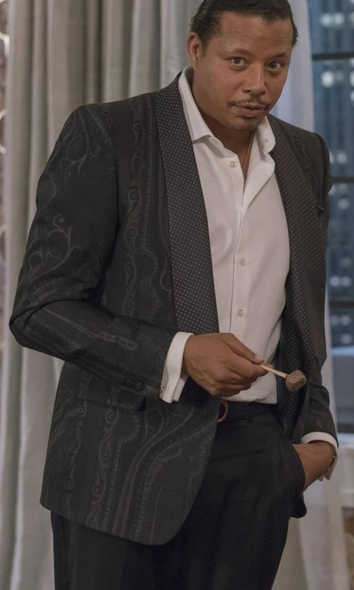 Terrence Howard  with Etro Paisley-Print Silk Evening Jacket in Empire