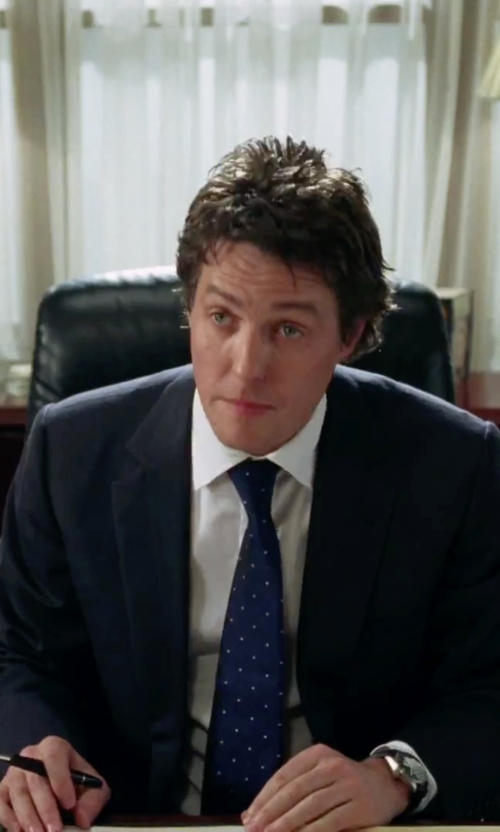 Hugh Grant with Nordstrom Polka Dot Silk Tie in Love Actually