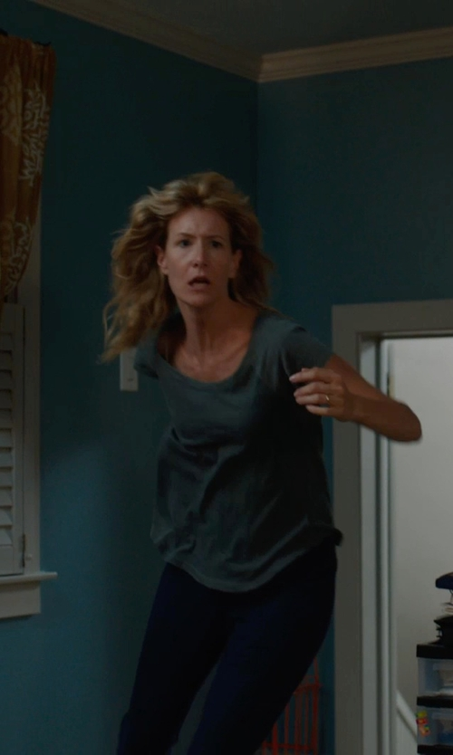 Laura Dern with Three Dots Stretch-Jersey Seamed Leggings in The Fault In Our Stars