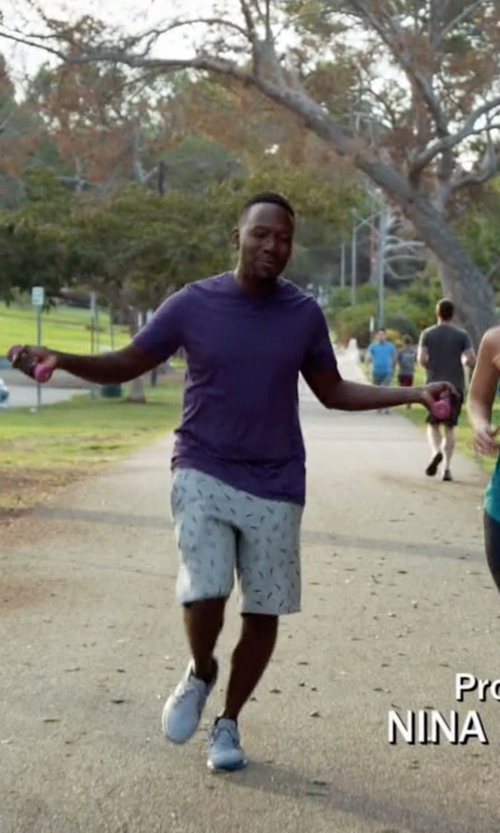 Lamorne Morris with Nike SB Everett Fern Shorts in New Girl