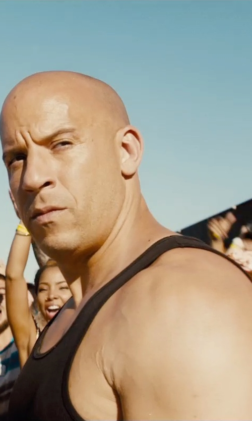 Vin Diesel with Dolce & Gabbana Ribbed Cotton Tank Top in Furious 7