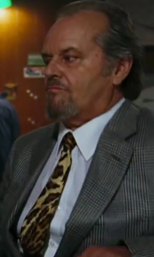 Jack Nicholson with Wild Ties Leopard Print Tie in The Departed