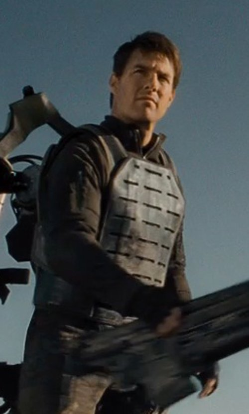 Tom Cruise with ROTHCO Mens Tactical Vest - MOLLE Plate Carrier, Black, One Size in Edge of Tomorrow