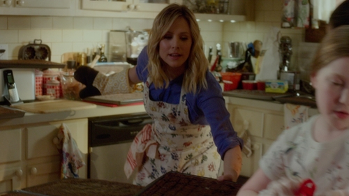Kristen Bell with Anthropologie Lucerne Apron in The Boss