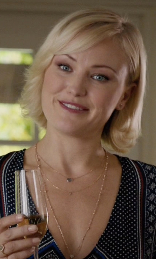 Malin Akerman with Vale Jewelry Rose Cut Sapphire Slice Necklace in Billions