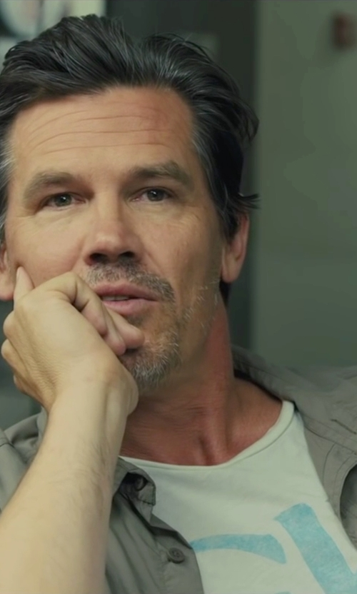 Josh Brolin with G-Star Raw 'Lamar' T-Shirt in Sicario