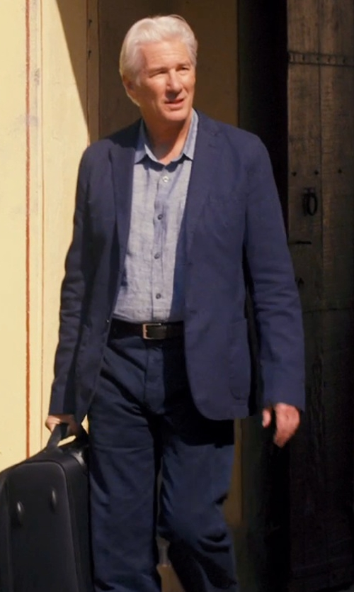 Richard Gere with Hugo Boss James Two-Piece Suit in The Second Best Exotic Marigold Hotel