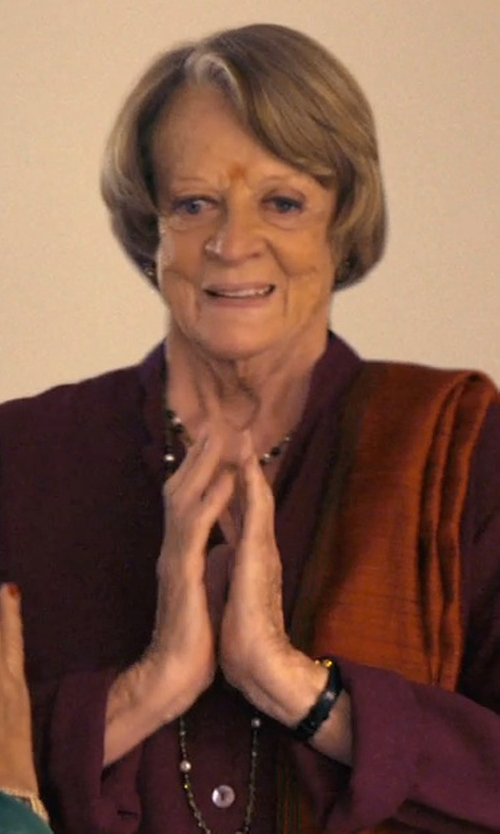 Maggie Smith with Tory Burch Buddy Classic Watch in The Second Best Exotic Marigold Hotel