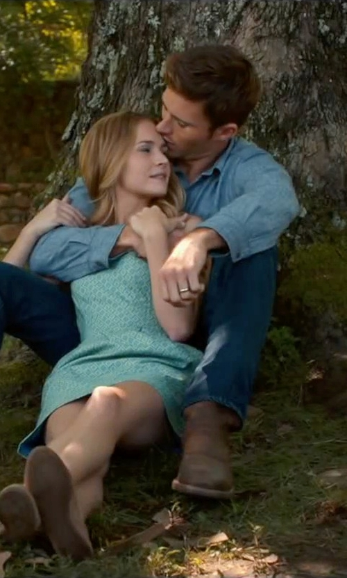 Scott Eastwood with Polo Ralph Lauren Slim-Fit Chambray Dress Shirt in The Longest Ride