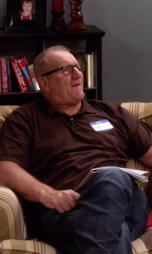 Ed O'Neill with Italian Rugby Style Short Sleeve Polo Shirt in Modern Family