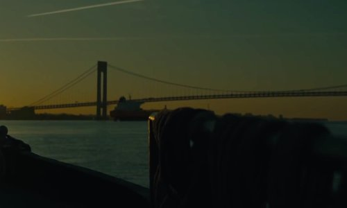 Unknown Actor with Verrazano–Narrows Bridge New York City, New York in A Most Violent Year