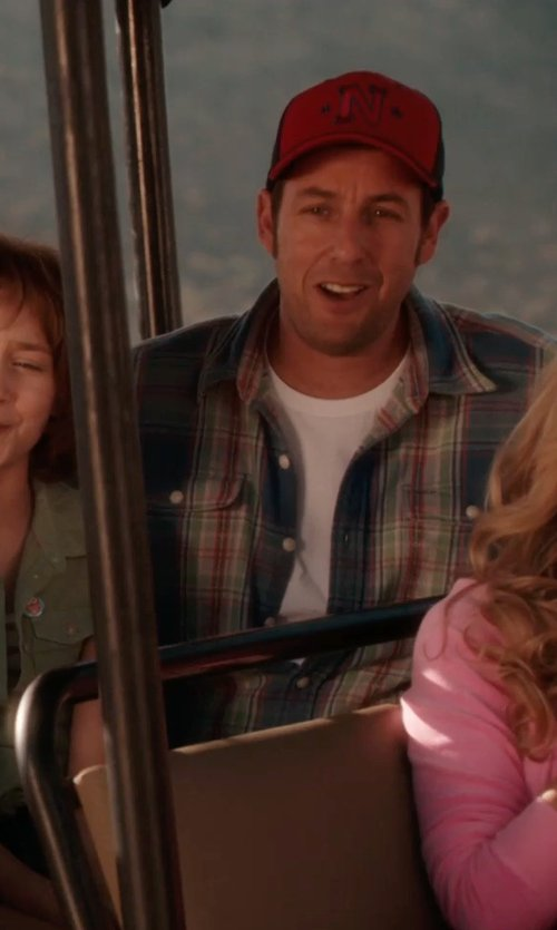 Adam Sandler with SONOMA life + style Plaid Poplin Button-Down Shirt in Blended