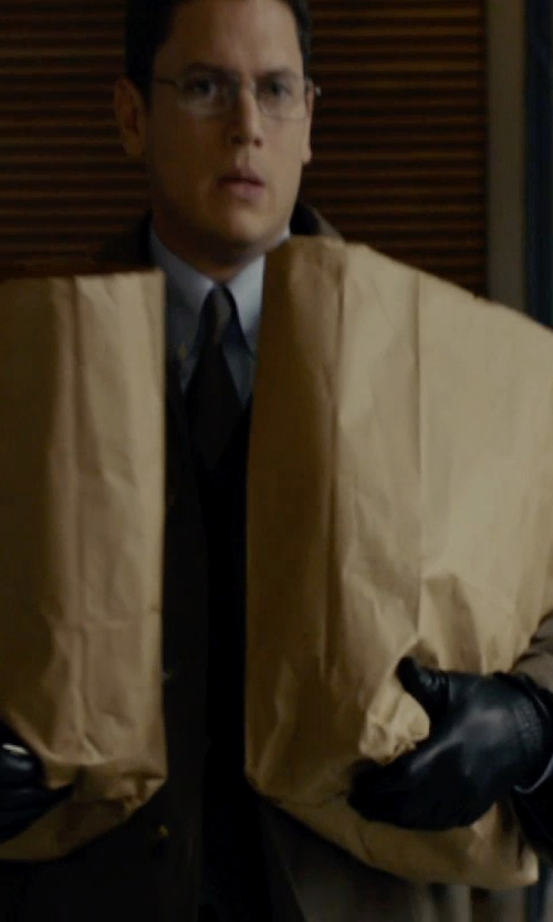 Wentworth Miller with Calvin Klein Leather Tech Gloves in The Loft