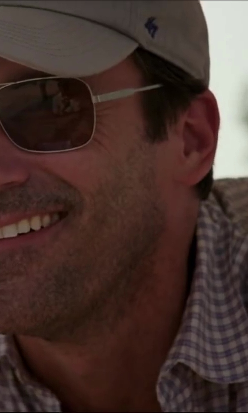 Jon Hamm with ERMENEGILDO ZEGNA plaid button down shirt in Million Dollar Arm