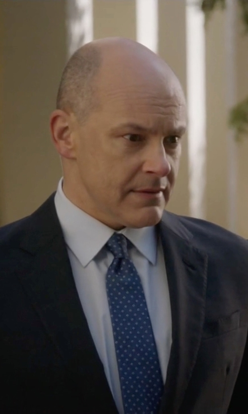 Rob Corddry with Brioni French-Cuff Dress Shirt in Ballers