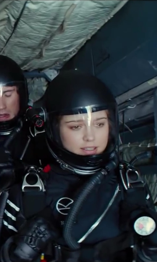 Sophie Cookson with Liquid Sky Lunar Freefly Suit in Kingsman: The Secret Service