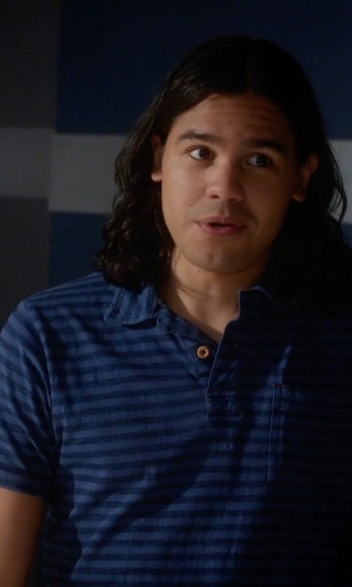 Carlos Valdes with Agave Denim Sultans Short Sleeve Polo Shirt in The Flash