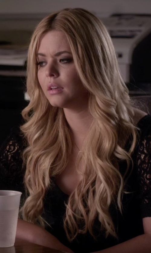 Sasha Pieterse with Temperley London Silk Dress in Pretty Little Liars
