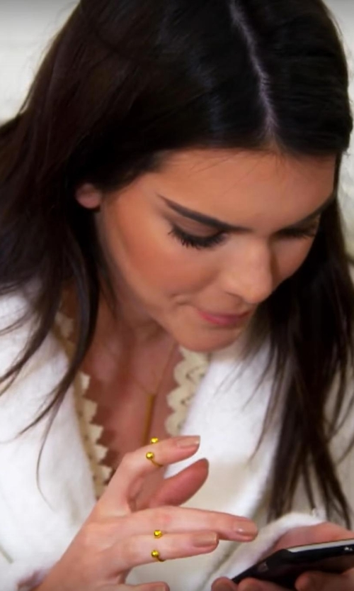 Kendall Jenner with Pamela Love Duality Quantum Moonstone Ring in Keeping Up With The Kardashians