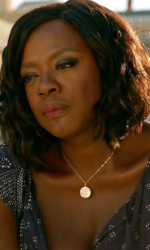 Viola Davis with Peggy Li Mother of Pearl Fern Necklace in How To Get Away With Murder