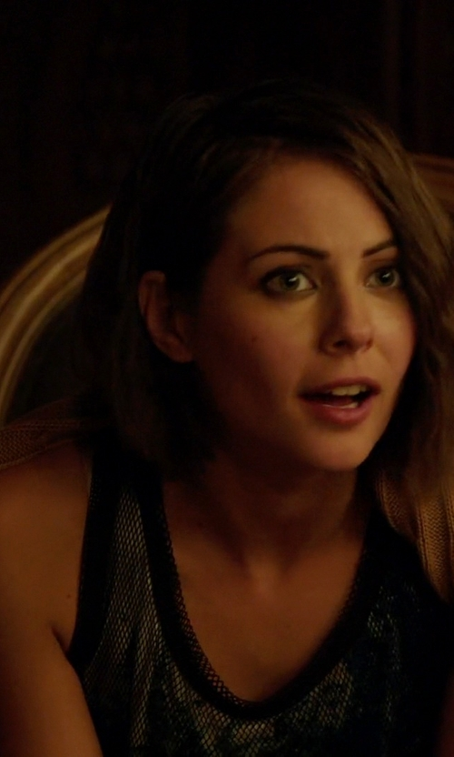 Willa Holland with Express Fitted Lace Tank Top in Arrow