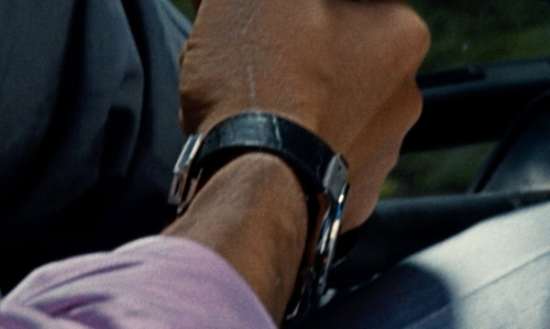 Irrfan Khan with A/X Armani Exchange Black Leather 46mm AX 2101 Watch in Jurassic World