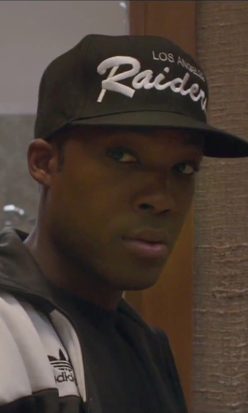 Corey Hawkins with Mitchell & Ness NFL Oakland Raiders Snapback Cap in Straight Outta Compton