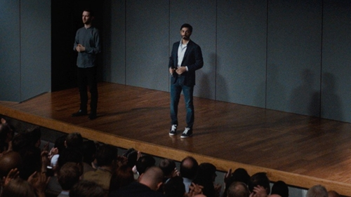 Riz Ahmed with Original Penguin Cameron Low-Top Sneaker in Jason Bourne