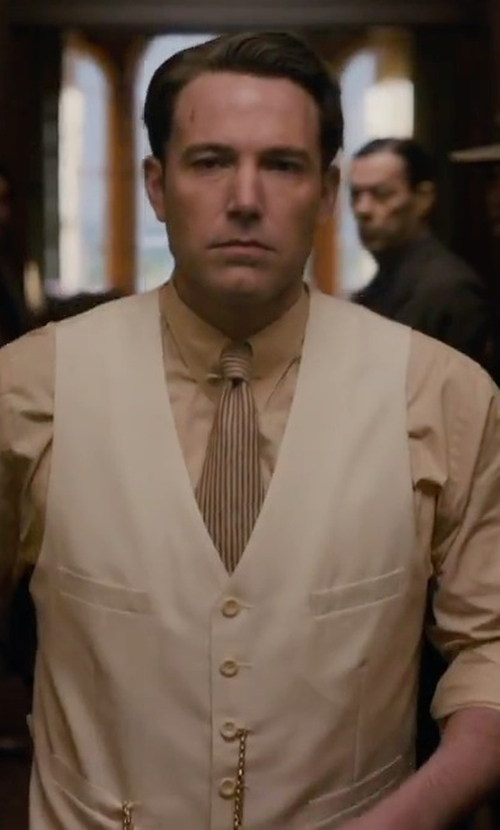 Ben Affleck with Ailinfadun Vertical Necktie in Live By Night