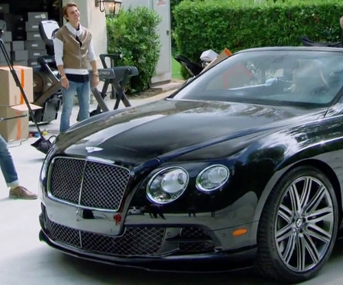 Khloe Kardashian with Bentley Continental GT Speed Convertible Car in Keeping Up With The Kardashians
