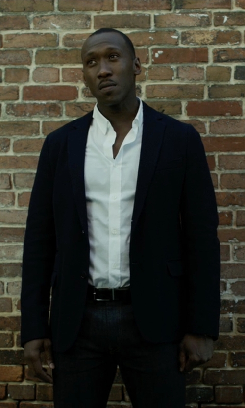 Mahershala Ali with Tommy Hilfiger Trim-Fit Wool Two-Button Sportcoat in House of Cards