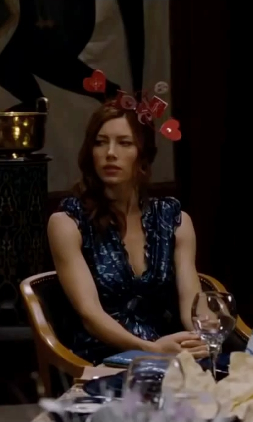 Jessica Biel with Party America Valentine's Day Glitter Headbopper in Valentine's Day