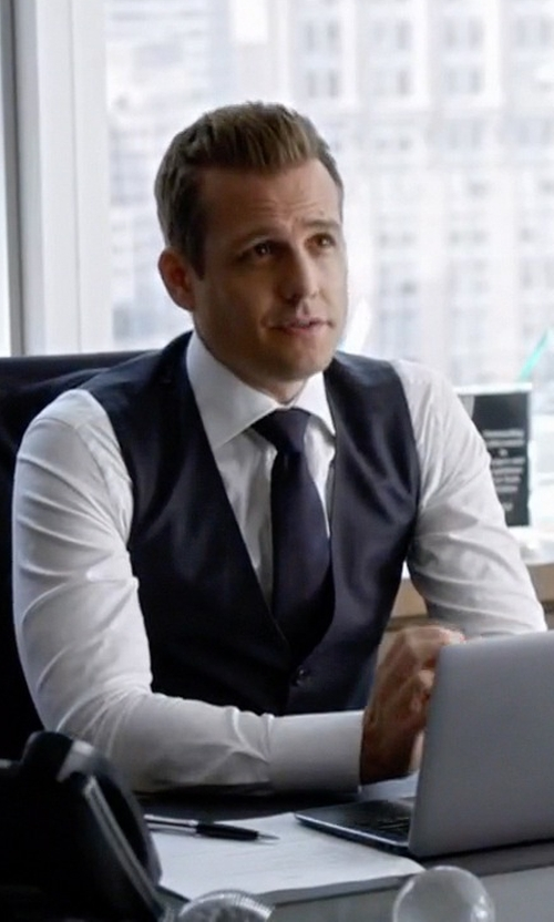 Gabriel Macht with Lanvin Grosgrain Solid Tie in Suits