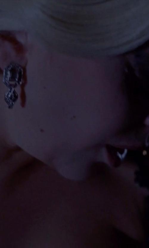 Lady Gaga with Oscar De La Renta Classic Jeweled Drop Earrings in American Horror Story