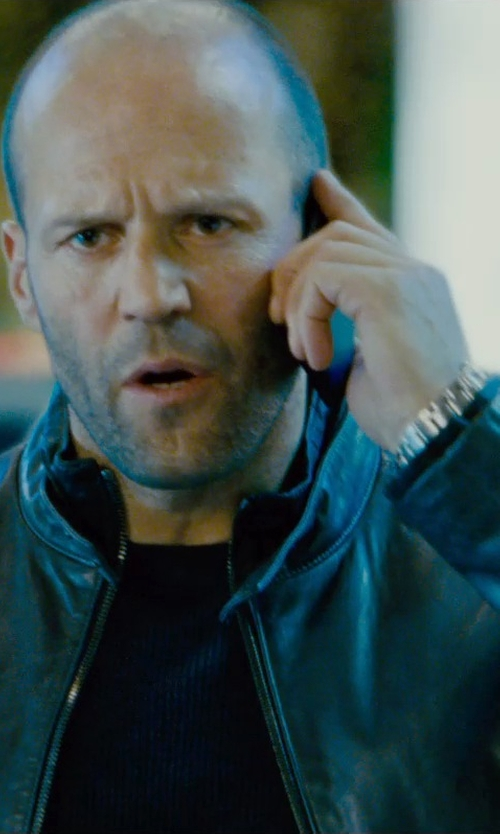 Jason Statham with Gucci Men's G-Timeless Stainless Steel Watch in Furious 7