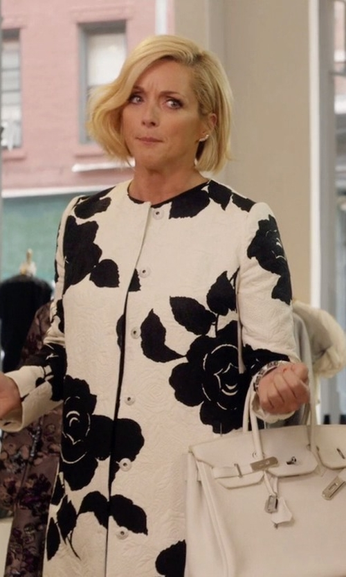 Jane Krakowski with Lorenza Pambianco Full-Length Jacket in Unbreakable Kimmy Schmidt