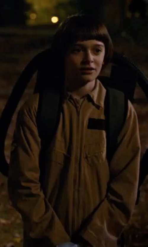 Noah Schnapp with Rubies Ghostbusters Costume With Inflatable Backpack in Stranger Things