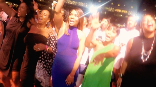 Regina Hall with Nookie The Eclipse Halter Dress in Girls Trip