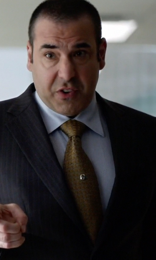 Rick Hoffman with Valentino Neat Squares Silk Tie in Suits