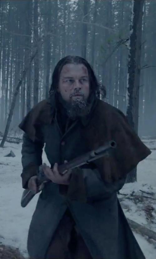 Leonardo DiCaprio with Gentleman's Emporium Coburn Great Coat - Black Wool in The Revenant