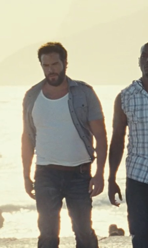 Matt Schulze with Hanro Cotton Pure Tank Top in Fast Five
