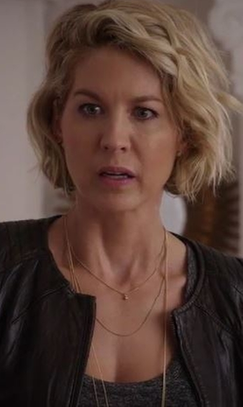 Jenna Elfman with A.V. Max Three-in-One Gold-Plated and Faux-Pearl Strand Necklace in Imaginary Mary