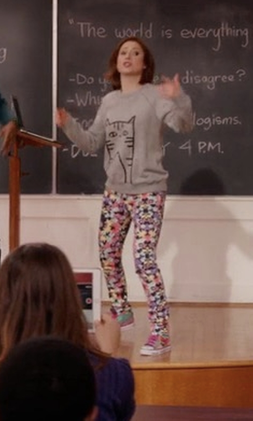 Ellie Kemper with Skechers Wildlights Twinkle Toes Sneakers in Unbreakable Kimmy Schmidt