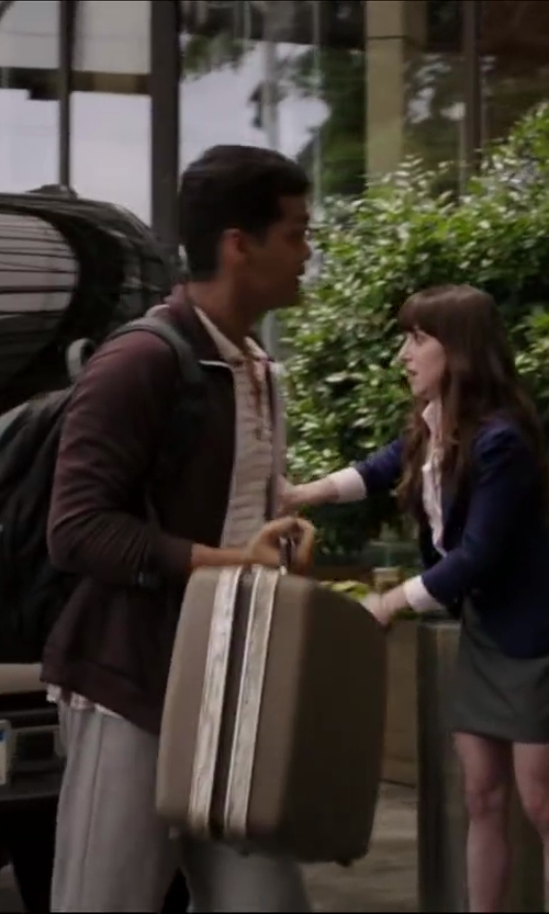 Madhur Mittal with Delsey Luggage Helium Aero International Carry On Expandable Spinner Trolley in Million Dollar Arm