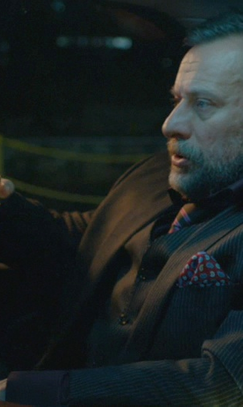 Michael Nyqvist with Baccarat Double Old Fashioned Glasses in John Wick