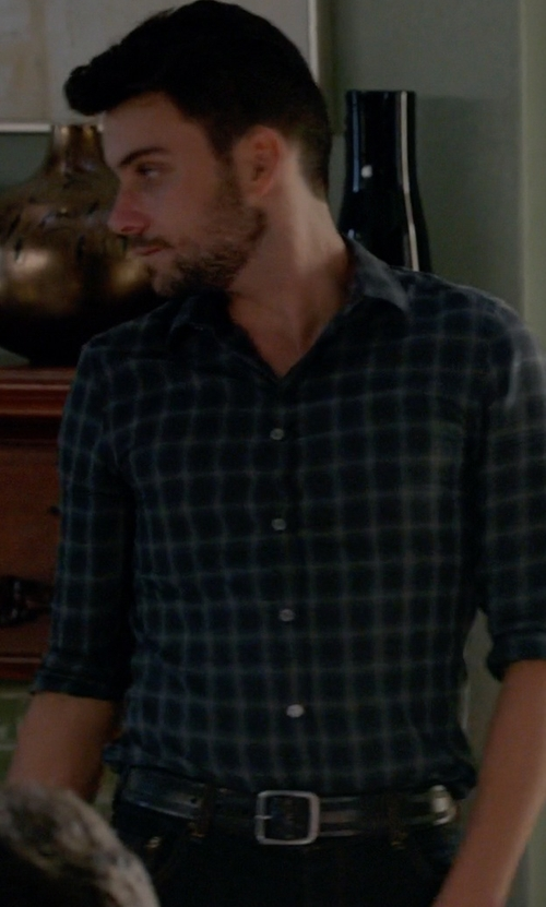 Jack Falahee with Orciani Cracklin Belt in How To Get Away With Murder