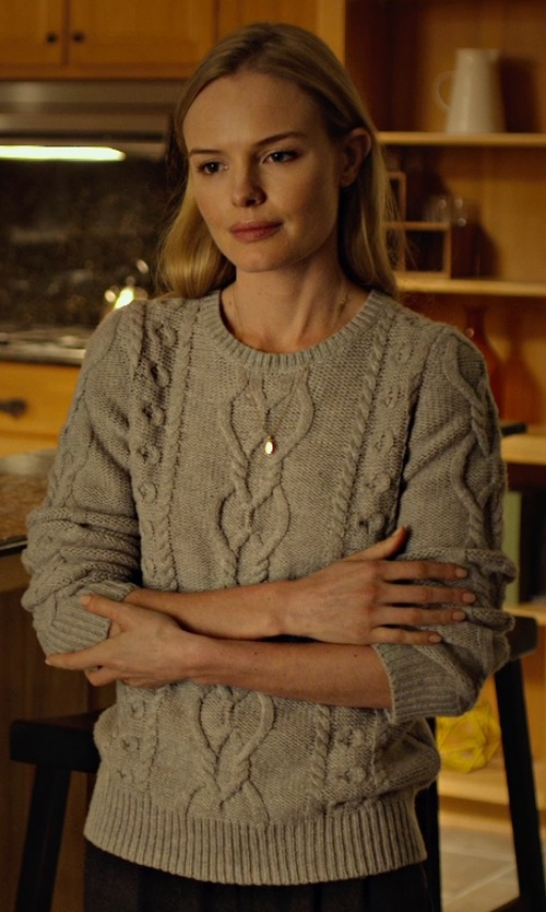 Kate Bosworth with 3.1 Phillip Lim Mixed Cable Pullover in Before I Wake