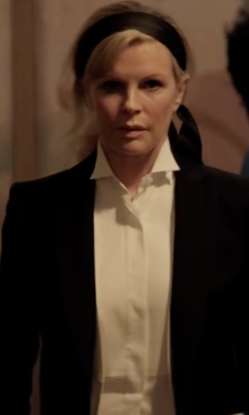 Kim Basinger with Tommy Hilfiger Twill One-Button Jacket in Fifty Shades Darker