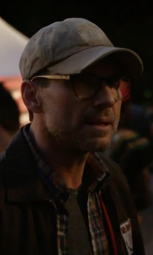 Christian Slater with Saks Fifth Avenue Collection Plaid Long Sleeve Shirt in Mr. Robot